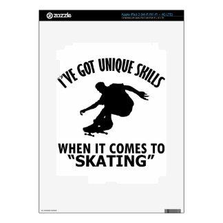 cool skating designs skin for iPad 3