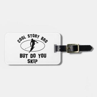 cool  ski designs bag tag