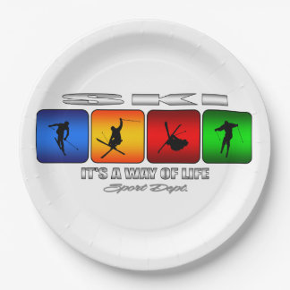 Cool Ski It Is A Way Of Life Paper Plate
