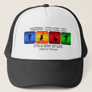 Cool Ski It Is A Way Of Life Trucker Hat