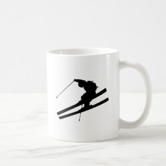 Cool skiing coffee mug