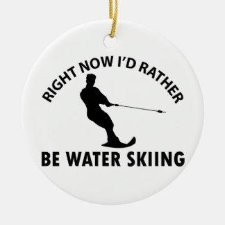 Cool skiing  designs ceramic ornament