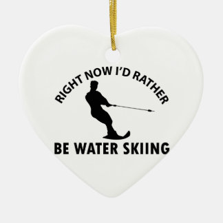 Cool skiing designs ornament