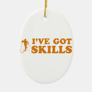 cool skiing designs ornaments