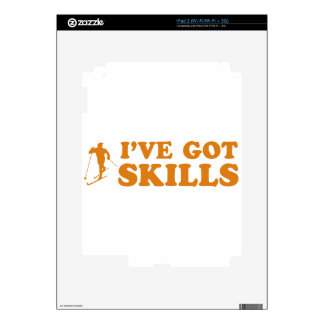 cool skiing designs decals for iPad 2