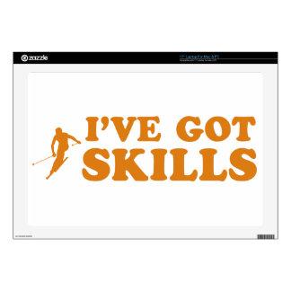 """cool skiing designs 17"""" laptop skins"""