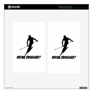 Cool Skiing designs Kindle Fire Decal