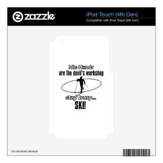 Cool Skiing designs iPod Touch 4G Decals