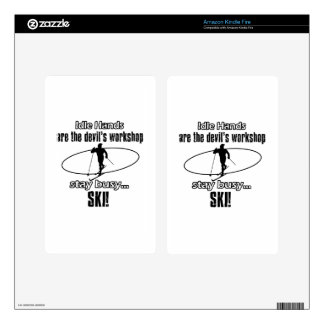 Cool Skiing designs Decal For Kindle Fire
