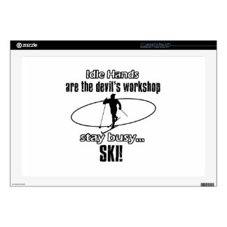 """Cool Skiing designs Decal For 17"""" Laptop"""