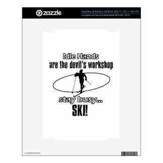 Cool Skiing designs NOOK Decal