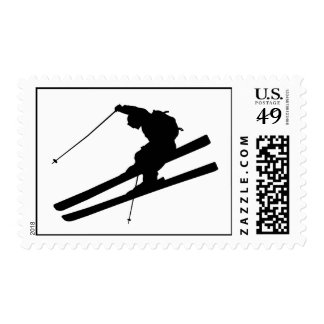 Cool skiing stamp
