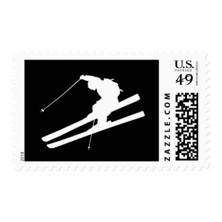 Cool skiing stamp
