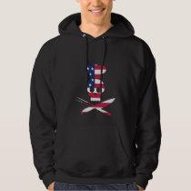 Cool Skull Chef - USA Flag Flag Hoodie