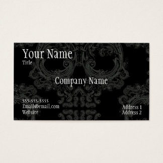 Cool skull pattern business card