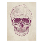 Cool skull postcard