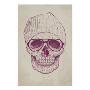 Cool Skull Poster at Zazzle