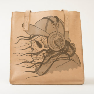 Cool Skull with Headphones Tote