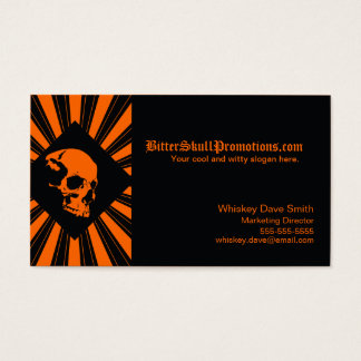 Cool SkullBurst Business Cards