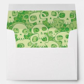 Cool skulls envelope