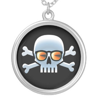 Cool Skully Blue Personalized Necklace