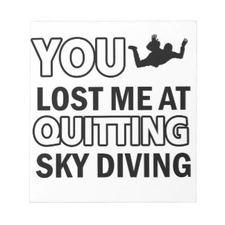 Cool sky dive designs note pad
