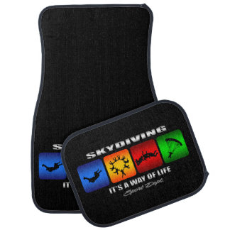 Cool Skydiving It Is A Way Of Life Car Floor Mat