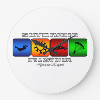 Cool Skydiving It Is A Way Of Life Large Clock