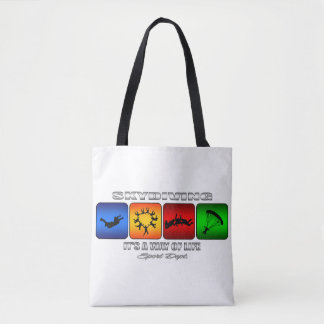 Cool Skydiving It Is A Way Of Life Tote Bag