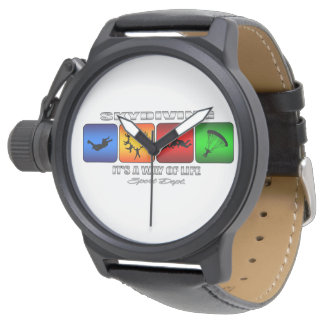 Cool Skydiving It Is A Way Of Life Wrist Watch