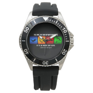 Cool Skydiving It Is A Way Of Life Wristwatch