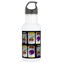 Cool Slot Machine Pattern Water Bottle