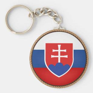Slovakia Keychain//Slovakia Flag// Keychain