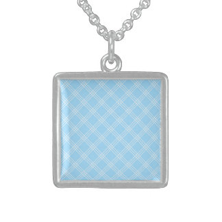 Cool Smile Virtuous Composed Square Pendant Necklace