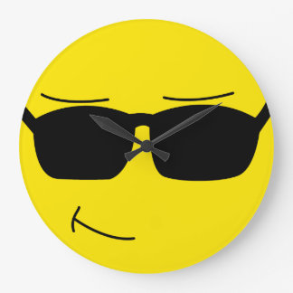 Cool Smiley Face Large Clock
