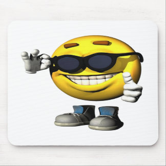 Cool Smiley Face mousepad