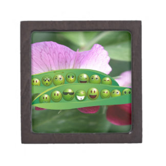 Cool Smiley Peas in-a Pod Multiple Product selecte Jewelry Box