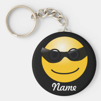 Cool Smiley Personalized Key Chain