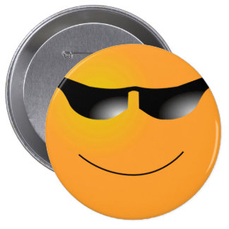 Cool Smiley Pinback Buttons
