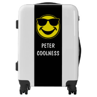 Cool Smiley yellow + your backg. & ideas Luggage