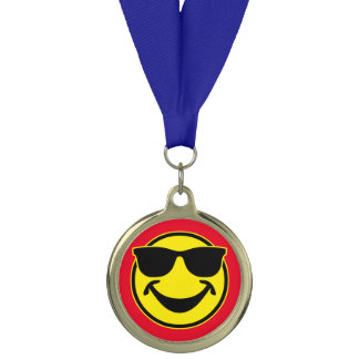 Cool Smiley yellow + your backg. & ideas Medal