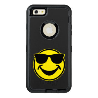 Cool Smiley yellow + your backg. & ideas OtterBox Defender iPhone Case