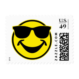 Cool Smiley yellow + your backg. & ideas Postage