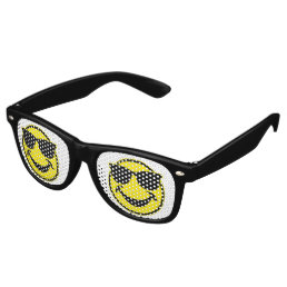 Cool Smiley yellow + your backg. & ideas Retro Sunglasses