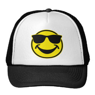 Cool Smiley yellow + your backg. & ideas Trucker Hat