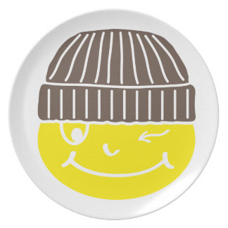 Cool Smilie with cap Plates