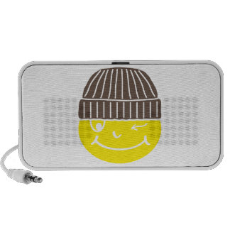 Cool Smilie with cap Travel Speakers