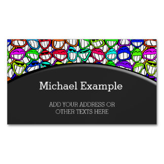 COOL SMILING FACES GROUP I + your idea Magnetic Business Card