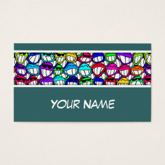 COOL SMILING FACES GROUP + your text & ideas Business Card