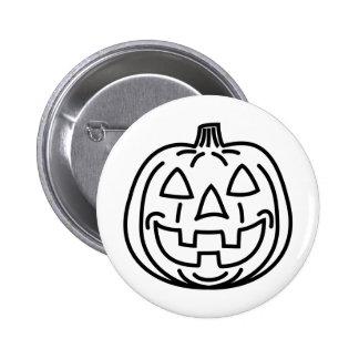 Cool smiling pumpkin button
